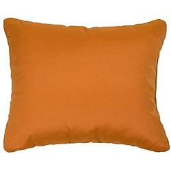 Canvas Tuscan Orange Knife Edge Outdoor Pillows With