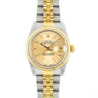Pre-Owned Rolex Men's Midsize Datejust Champagne Dial Two-tone Watch