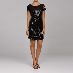 S.L. Fashions Women's Sequin Sheath Dress - Thumbnail 0