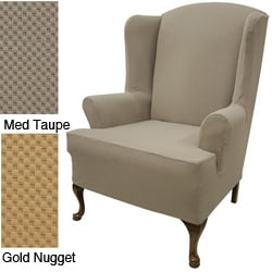 Wing Chair Stretch Slipcover