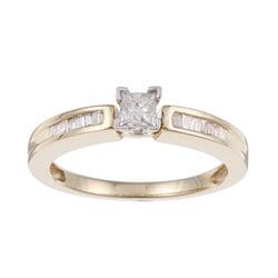14K Yellow Gold 2/5ct TDW Diamond Engagement Ring (J-K, I2-I3)