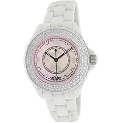 Le Chateau Women's 'Condezza' All-ceramic Mother of Pearl Dial Watch
