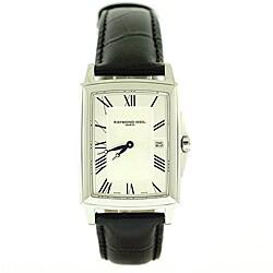 Raymond Weil Women's 'Tradition' Black Leather Strap Watch