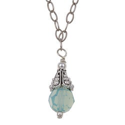 Charming Life Sterling Silver Blue Crystal Necklace
