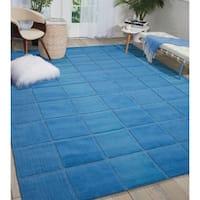 Nourison Hand-tufted Westport Blue Wool Rug - 2'6 x 4'