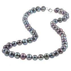 Sterling Silver Grey Freshwater Pearl Necklace (7-8 mm)
