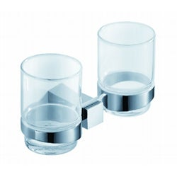 Fresca Ellite Chrome Double Glass Tumbler Holder