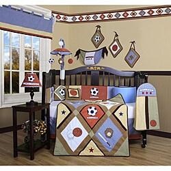 Shop All-Star Sports 13-piece Crib Bedding Set - Overstock ...