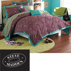 8851194635d Steve Madden Sydney 10-piece Queen-size Bed in a Bag with Sheet Set - 8' x  10' | Overstock.com Shopping - The Best Deals on Bed-in-a-Bag