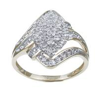 10k Yellow Gold 1/10ct TDW Diamond Ring (G-H, I3)