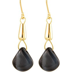 Gold Fill 'Mystic Midnight Sky' Glass Bead Earrings