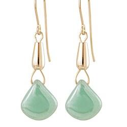 Gold Fill 'Mystic Mint' Glass Bead Earrings