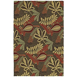 Home and Porch Indoor/ Outdoor Brown Rug (3' x 5')