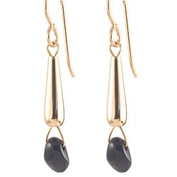 Gold Fill 'In Midnight Blue' Glass Bead Earrings