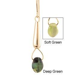 14k Gold Fill 'Elegantly Emerald' Green Glass Bead Earrings