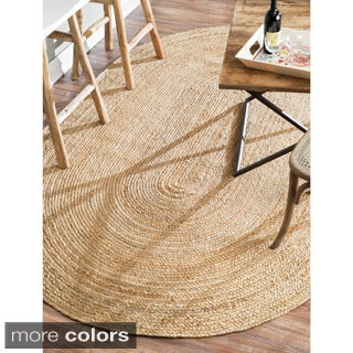 Havenside Home Duck Eco Natural Fiber Braided Reversible Oval Jute Area Rug - 8' x 10' (2 options available)