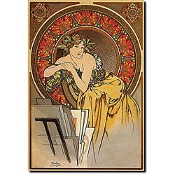 Alphonse Mucha 'Mucha' Canvas Art
