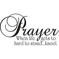 'Prayer' Vinyl Wall Art - Thumbnail 0