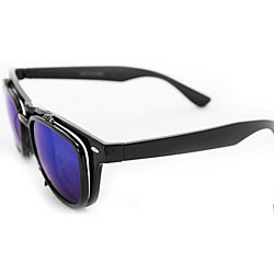 Women's Black Glassy Wayfarer Sunglasses