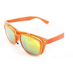 Women's Orange Glassy Wayfarer Sunglasses