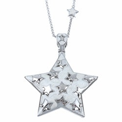 Thumbnail 1, Lauren G. Adams Silvertone Metal Enamel Star Necklace.