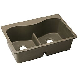 Awesome Elkay E Granite Double Bowl 33x22 Inch Top Mount Sink