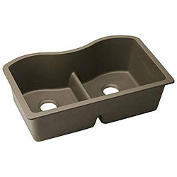 Elkay ELGULB332 E-granite 33x20.5-in Double-bowl Undermount Sink
