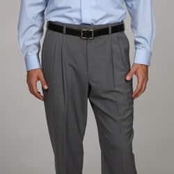 Austin Reed Men S Grey Pleated Dress Pants Overstock 5281349