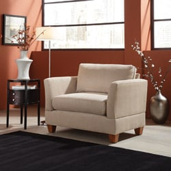 shop microfiber small space 45 inch oversized chair free shipping today 5285131. Black Bedroom Furniture Sets. Home Design Ideas