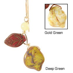 'Vines of Tenacity' 14k Gold Fill Serpentine Earrings