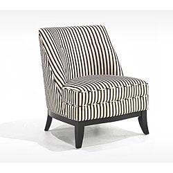 Thumbnail 1, Retro Tuxedo Stripe Club Chair.