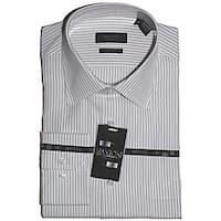 Men's White Black Stripe Dress Shirt
