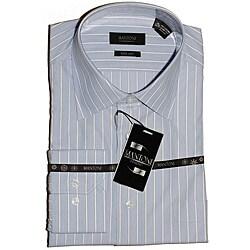 Men's Blue/White Stripe Dress Shirt