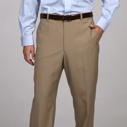 Austin Reed Men S Tan Flat Front Dress Pants Overstock 5300786