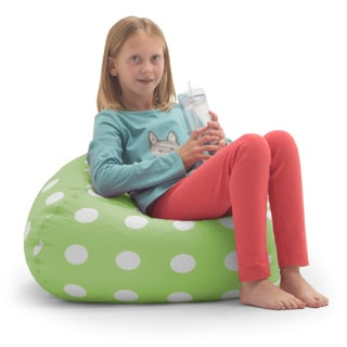 Kids' BeanSack Polka Dot Green Bean Bag Chair