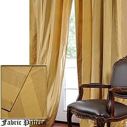 Shop Exclusive Fabrics Faux Silk Taffeta Gold Tan Stripe