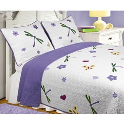 Greenland Home Fashions Mariposa Twin-size Quilt Set - Thumbnail 0
