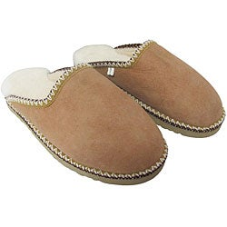 Amerileather Sand Brown Double Faced Shearling House Slippers (Option: 6)
