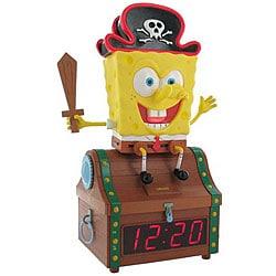 Nickelodeon SpongeBob Treasure Chest Clock Radio