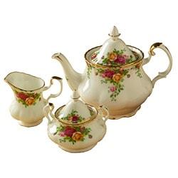 Royal Albert 'Old Country Roses' 3-piece Tea Set