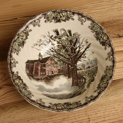 Thumbnail 1, Johnson Brothers Friendly Village 8-inch Round Vegetable Bowl.