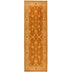 Hand-knotted Halmstad Brown Oriental Wool Rug (2'6 x 8')