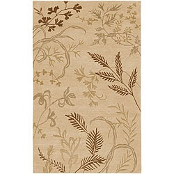 Hand-knotted Fossil Beige Wool Area Rug - 8' X 11' - Thumbnail 0