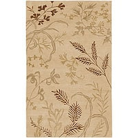 Hand-knotted Fossil Beige Wool Area Rug (8' x 11')