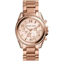 Michael Kors Women's  'Blair' Rose Gold-Tone Chronograph Watch