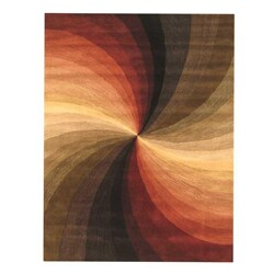 EORC Hand-tufted Wool Multi Swirl Rug (12' x 15')