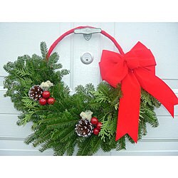 Fresh 24-inch Balsam Crescent Wreath