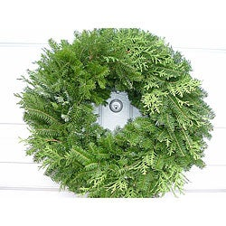Fresh Balsam 24-inch Mixed Greens Wreath