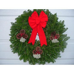 Fresh 24-inch Traditional Balsam Wreath