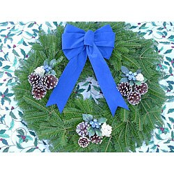 Fresh Country Blueberry 24-inch Balsam Wreath
